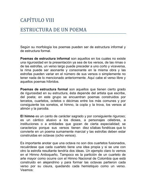 8 Estructura De Un Poema Pdf Webnode