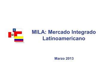 MILA: Mercado Integrado Latinoamericano - CorpBanca Inversiones
