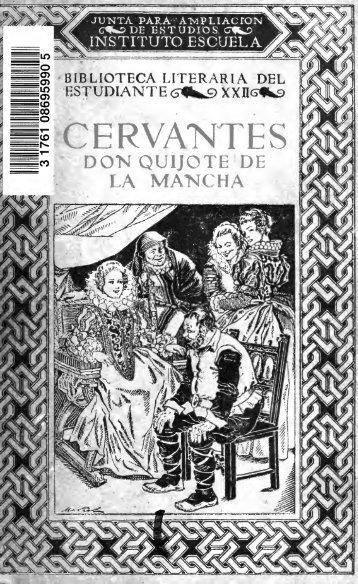 Don Quijote de la Mancha;