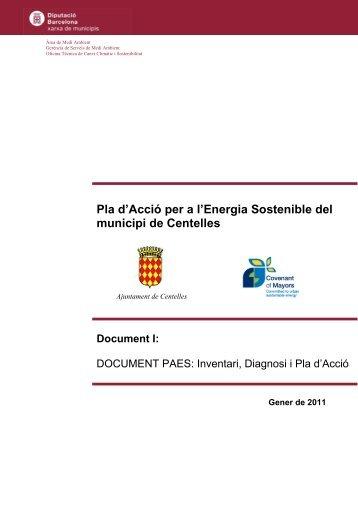 Pla d'Acció per a l'Energia Sostenible del municipi de Centelles