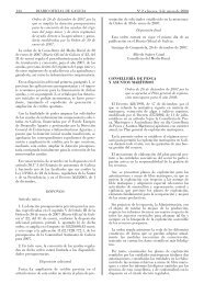 134 DIARIO OFICIAL DE GALICIA Nº 2 Jueves, 3 de enero de 2008 ...