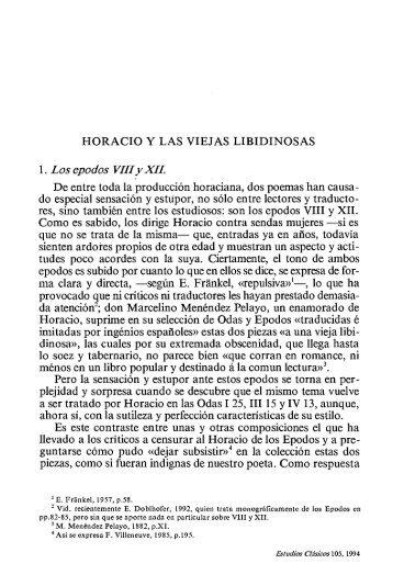 1. Los epodos VWiy XH. - InterClassica
