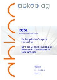 ECDL 2005 - abkoo ag