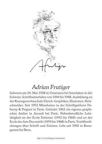 Adrian Frutiger beim Klingspor-Museum [PDF]