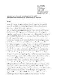 ist der Redetext von Prof. Dr. Wolf Spemann, zur Einführung in die ...