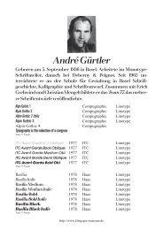 André Gürtler - Klingspor Museum