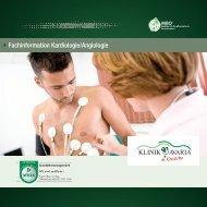 Fachinformation Kardiologie/Angiologie - Klinik Bavaria