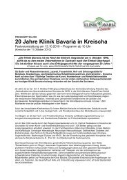 und Krankenhausneubau mit rund 1.000 - Klinik Bavaria