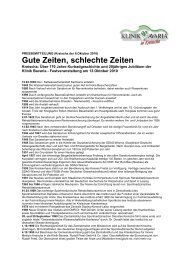 Gute Zeiten, schlechte Zeiten - Klinik Bavaria