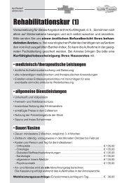 Rehabilitationskur '1 Rehabilitationskur '1 - Klinik Bavaria