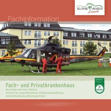 Fach- und Privatkrankenhaus.indd - Klinik Bavaria