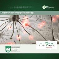 Fachinformation Neurologie/Neuroonkologie - Klinik Bavaria