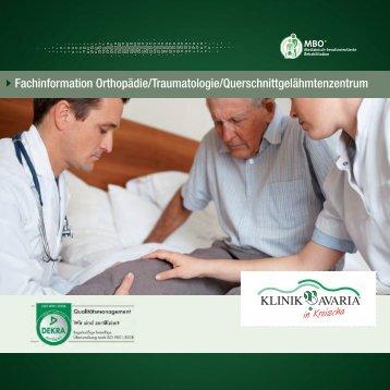 Fachinformation Orthopädie/Traumatologie ... - Klinik Bavaria