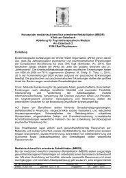 Konzept der medizinisch-beruflich orientieren Rehabilitation (MBOR ...