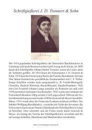Schriftgießerei J. D. Trennert & Sohn - Klingspor Museum