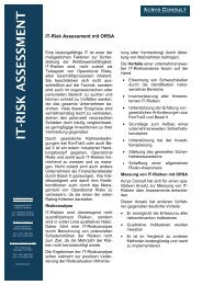 It-Risk Assessment mit ORSA - Acrys