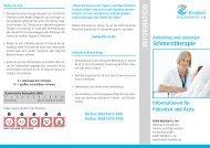 Info-Flyer Schmerztherapie - Kliniken Mühldorf