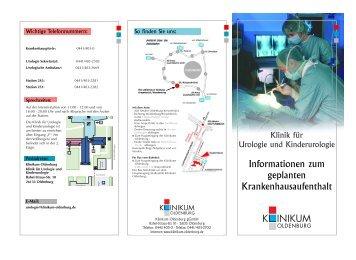 Informationen zum geplanten Krankenhausaufenthalt - im Klinikum ...