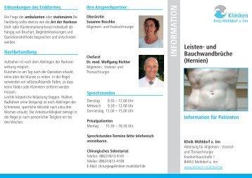 Info-Flyer - Kliniken Mühldorf