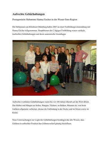 Aufrechte Gebärhaltungen - im Klinikum Oldenburg