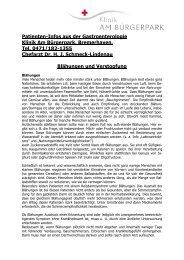 Patienten-Infos aus der Gastroenterologie Klinik Am Bürgerpark ...