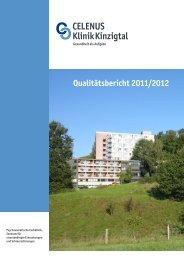 Qualitätsbericht 2011/2012 - Celenus-Kliniken