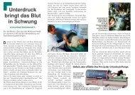 D Unterdruck bringt das Blut in Schwung - Klinik Fallingbostel