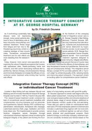 InTegraTIve CanCer Therapy ConCepT aT ST ... - Klinik St. Georg