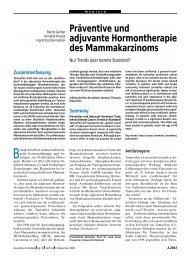 Präventive und adjuvante Hormontherapie des Mammakarzinoms