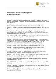 Publikationsliste Dr Michalsen, PDF-Version, 40 KB - Klinik Tettnang