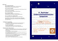 8. Rostocker Kinderschlafmedizinisches Symposium - Klinikum ...