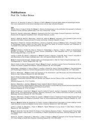 Publikationen Prof. Dr. Volker Briese