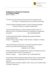 Publikationsliste Dr. Fünfgeld - Klinik Tettnang