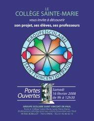 samedi 16 février 2008 de 9h00 à - Groupe scolaire Saint Vincent ...