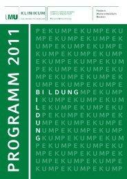 Programm 2011 - des Klinikums