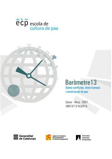 Baròmetre nº 13 - Escola de Cultura de Pau - Universitat Autònoma ...