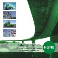 Catálogo técnico - Hune