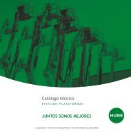 Catálogo técnico JUNTOS SOMOS MEJORES - Hune