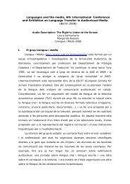 Audio Description - Departament de Filologia Catalana - Universitat ...