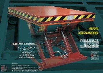 Catálogo Mesas Elevadoras MOVIA - Talleres MOVIA