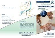 Beatmungsworkshop Einladung zum - Klinikum Bad Hersfeld GmbH