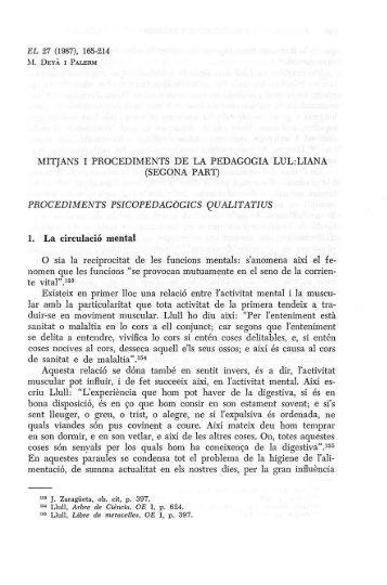 MITJANS I PROCEDIMENTS DE LA PEDAGOGIA LUL.-LIANA ...