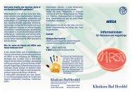 Informationen zu MRSA - Klinikum Bad Hersfeld GmbH