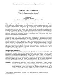 Teachers Make a Difference What is the research evidence?