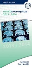 Neurokolloquium 2013/2014 - Klinikum Bad Hersfeld GmbH