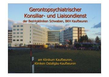 Gerontopsychiatrischer Konsiliar- und Liaisondienst - Städtisches ...
