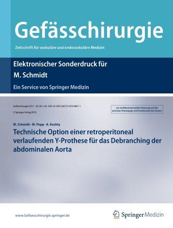 Technische Option einer retroperitoneal verlaufenden Y-Prothese ...