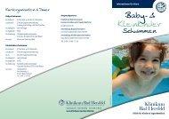 Baby- und Kleinkinderschwimmen - Klinikum Bad Hersfeld GmbH