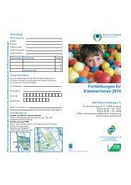 Fortbildungen für Erzieher/innen 2010 - Klinikum Duisburg