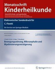 Monatsschrift Kinderheilkunde - Klinikum Duisburg